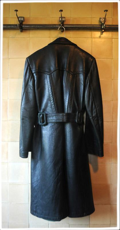 Vintage German Officer S Leather Coat Ww2 Motorcycle