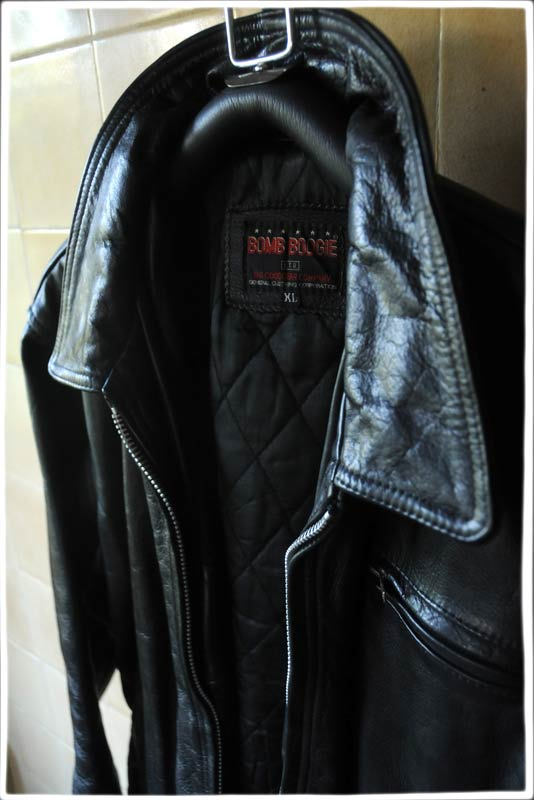 Bomb Boogie Black Leather Bomber Jacket 187 The Alan