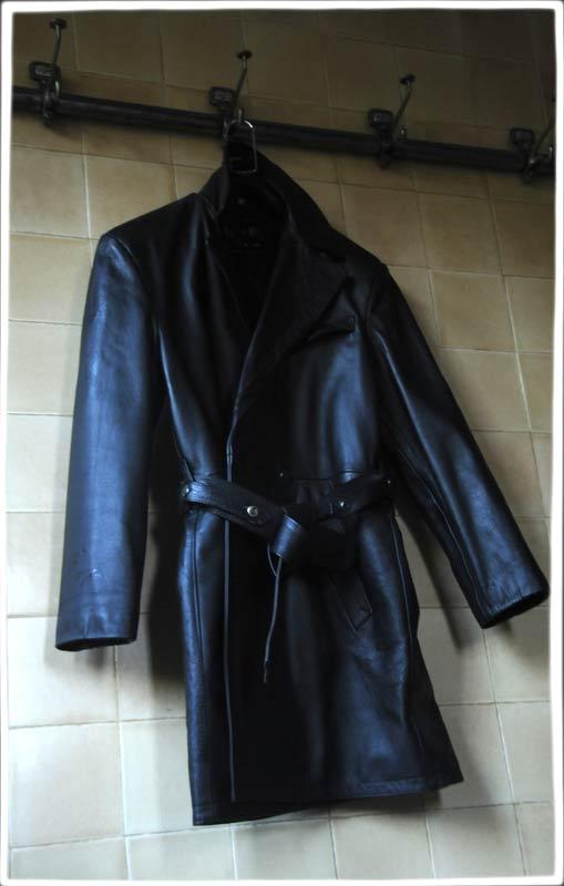 La Rocka Black Leather Trench Coat 187 The Alan Wilder
